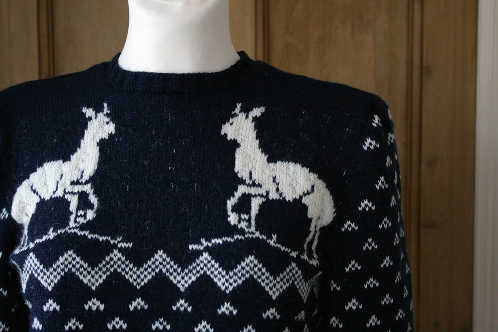 8f2e64353 Finished  2015 Christmas Sweater - 1940s Reindeer Sports Jumper ...