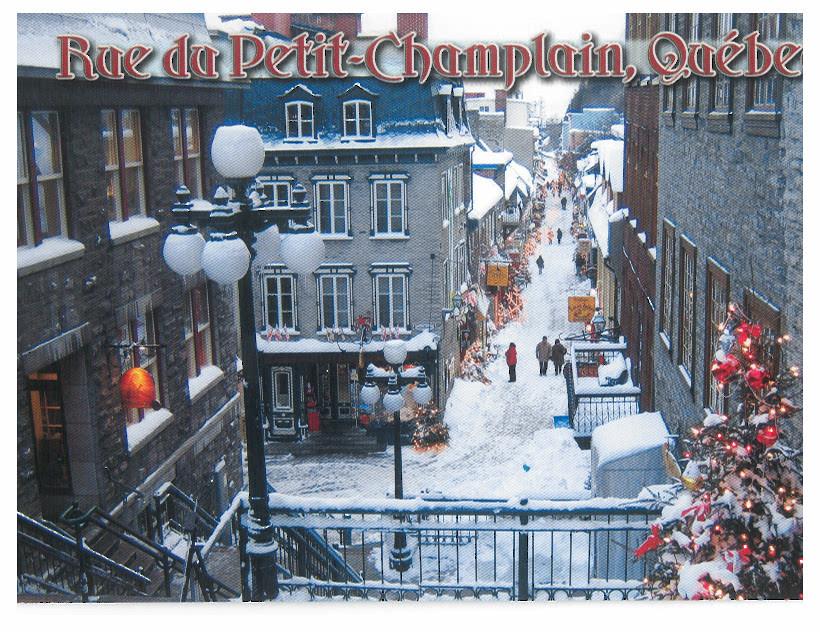Canada - Quebec - Rue de Petit Champlain
