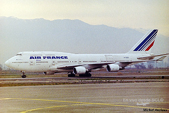 Air France B747-400C SCL (Michel Anciaux)