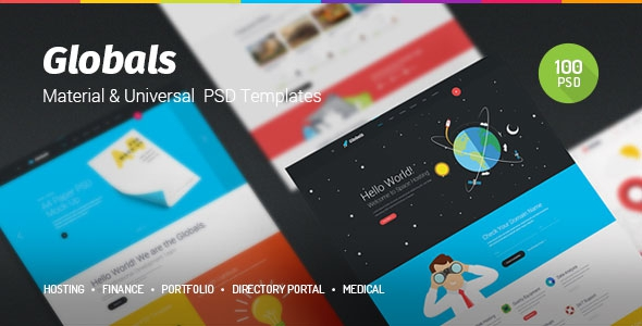 Themeforest Globals v1.0 – Material & Universal PSD Template