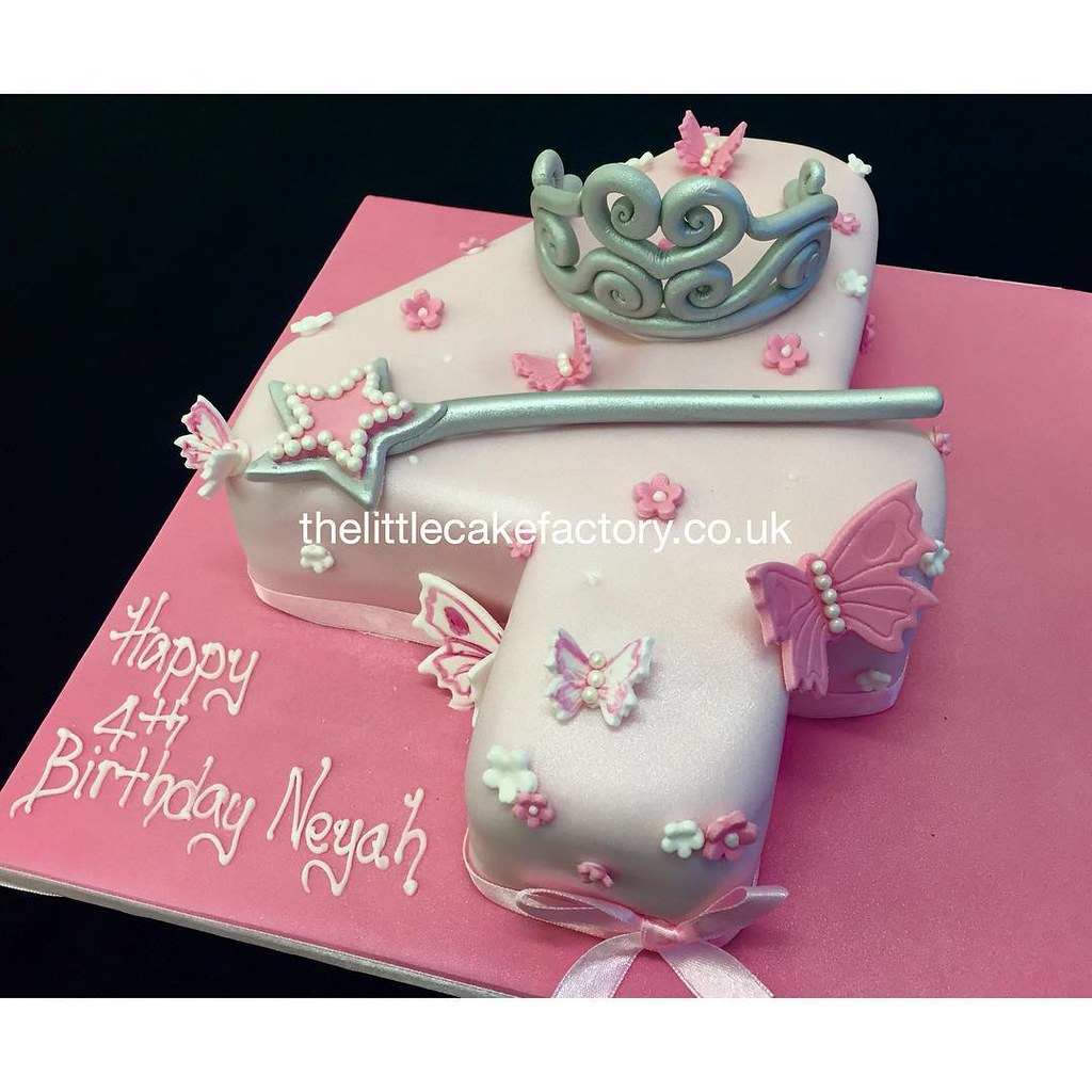 Princess Neyah Number 4 Cake Number4 Numeral Birthdaycake Chocolate