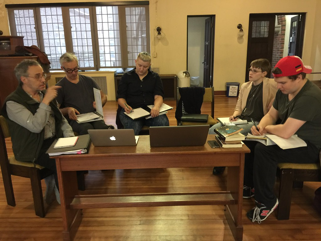 "<p>Reading, talking, source work for ""They Don't Pay? We Won't Pay"" by Dario Fo with the director, Joe Martin and designers and actors</p>"