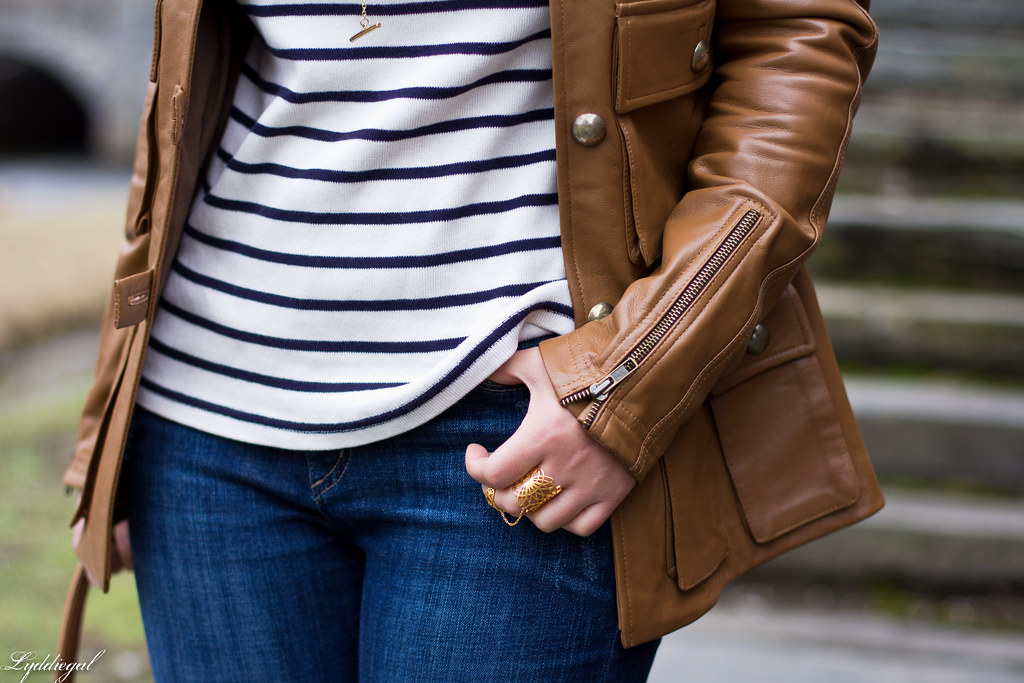 striped tee, brown leather jacket, lace up flats-5.jpg
