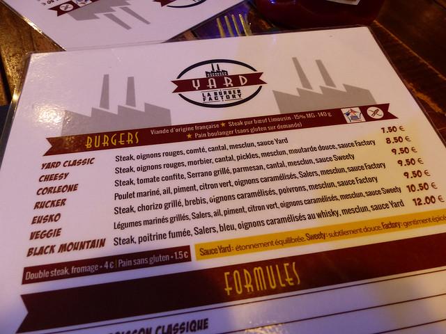 menu Yard