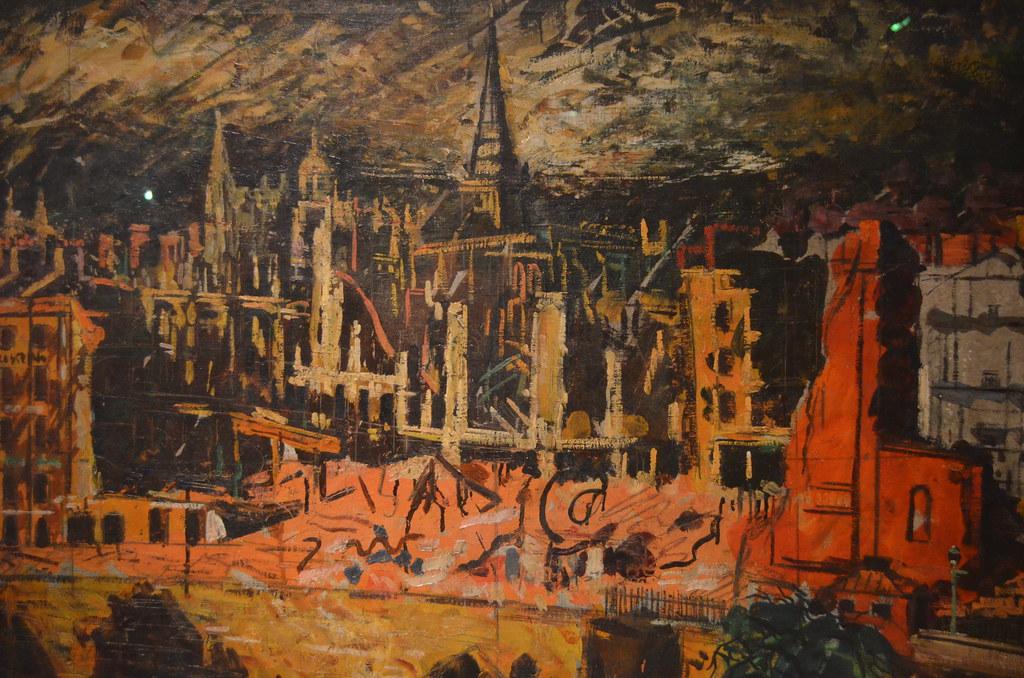 > Le blitz de Bristol par George Melhuisch au M-Shed de Bristol.