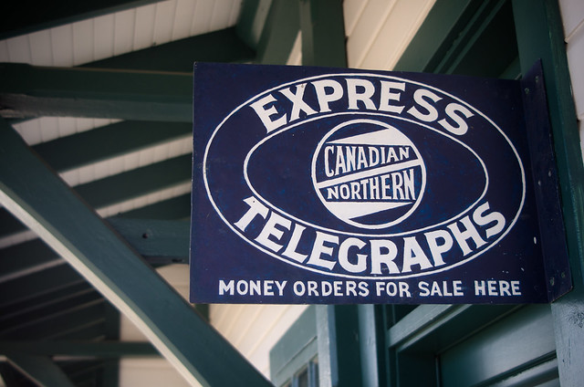 Canadian Northern Express Telegraphs Sign