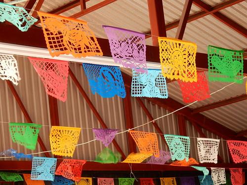 Canon del Sumidero - vlaggetjes in restaurant