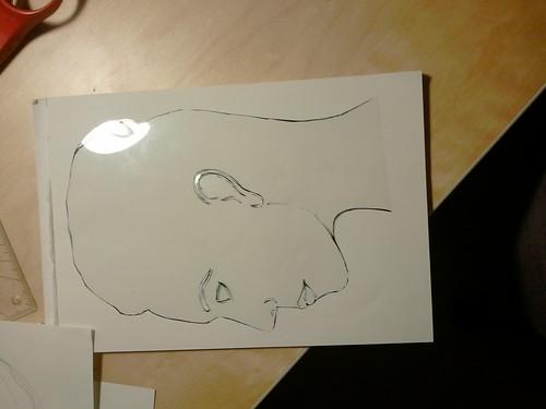 portrait stencil