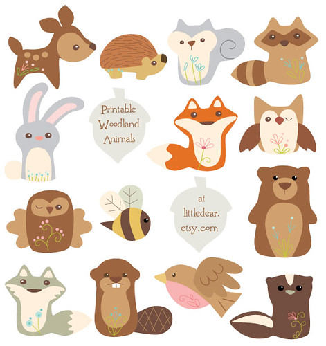 all printable woodland animals