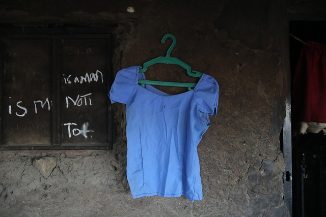 "A school uniform belonging to Rifkatu Galang is hung on a wall at the entrance of her home<br /> <br /> ""They still play her song on the radio.""<br /> ‎<br /> Rifkatu Galang was eager to go to school and sit her final exams. After that, she planned to return home and help in the family farm for a while. And then, she would marry. A young man called Kwanugu talked to her about Lagos, how he was going there to make it and all the gifts he would buy for her.<br /> <br /> Her mother, Yana, never liked to hear all that talk. She felt that, at 19, her daughter was too young to be married. She wanted her to at least think of the possibility of further studies. Rifkatu did not mind the idea but she knew there would be no money for her fees.<br /> <br /> Just before she left for school on April 14, 2014, Rifkatu could not resist teasing her mother one more time, reminding her about her plans to marry soon after the exams were over. <br /> <br /> ''She was fond of gospel music and she was playing this song on her phone,'' said her mother. <br /> <br /> It is the last thing Yana remembers of her daughter. That night, the armed group invaded the school and took Rifkatu, and her friends and relatives, away to the Sambisa forest. <br /> <br /> ""He married another girl, you know, her Kwanugu,"" Yana said. ""He is in Lagos doing some work or other. Whenever he sees me, he bursts into tears and we cry together. But he had to move on.''<br /> <br /> But it is different for a mother. ""How do you move on, when everywhere you go she is there?'' she said. <br /> <br /> Recently, a car went past and she heard her daughter's favourite song on the stereo. Instantly, tears poured from her eyes. Right there, in the middle of some street."