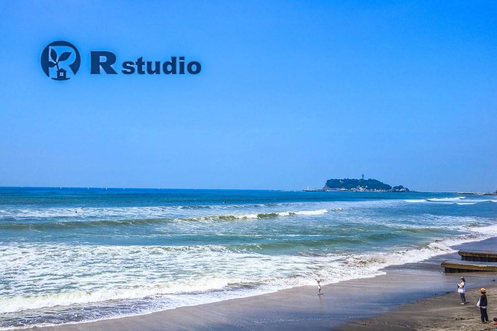 七里ガ浜の海