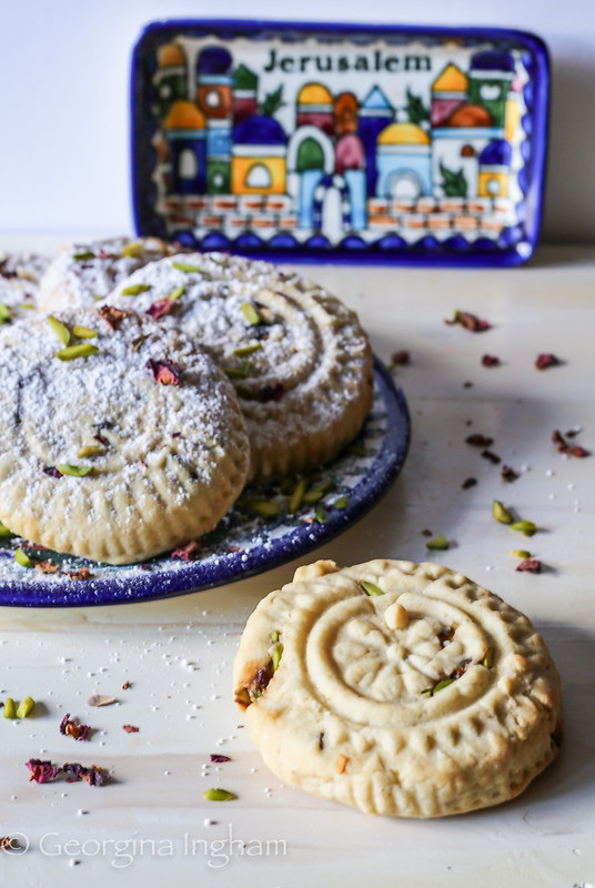 Georgina Ingham | Culinary Travels Photograph Intricately Decorated Arabic Maamul Cookies