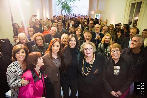 CFK con artistas