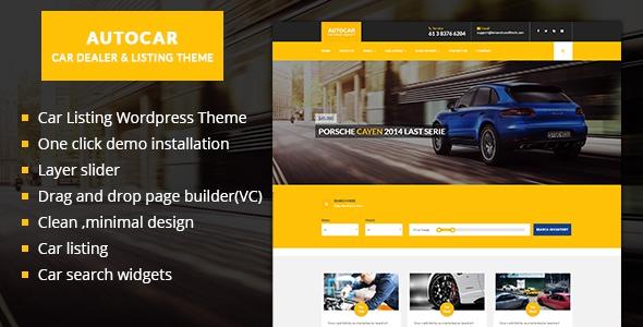 Car Listing WordPress Theme - Auto Car v1.0