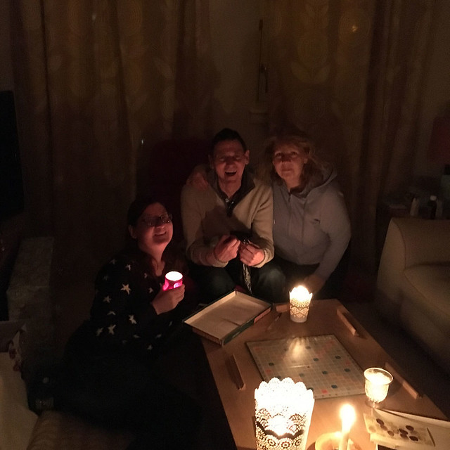 Spooky Christmas Eve power cut family Scrabble. Winner not pictured because it was me!!