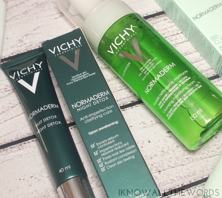 vichy normaderm night detox and foaming mousse