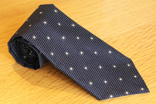 Handmade Tie using Purl Soho free pattern