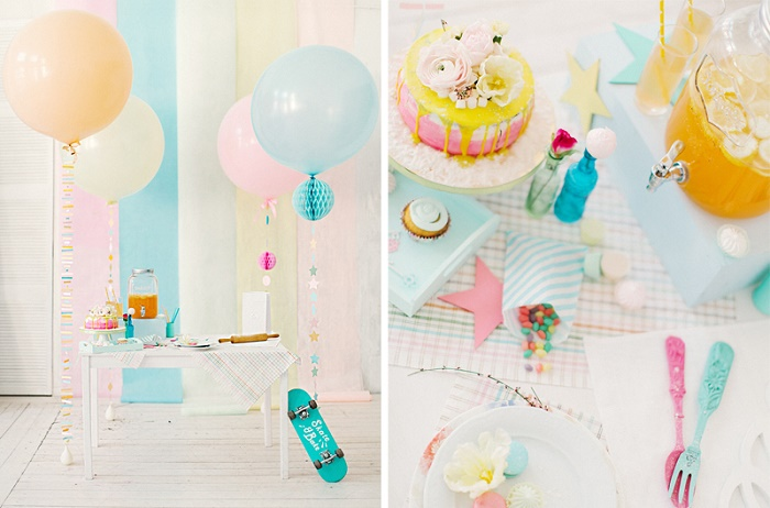 Whimsical wedding dessert table | Modern Whimsical Wedding Inspiration Full of Colour | itakeyou.co.uk