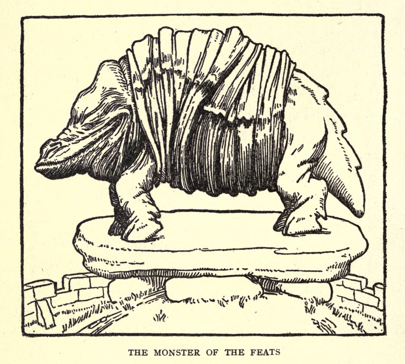 "John D Batten - The Monster Of The Feats, Illustration from ""The Book Of Wonder Voyages,"" 1919"