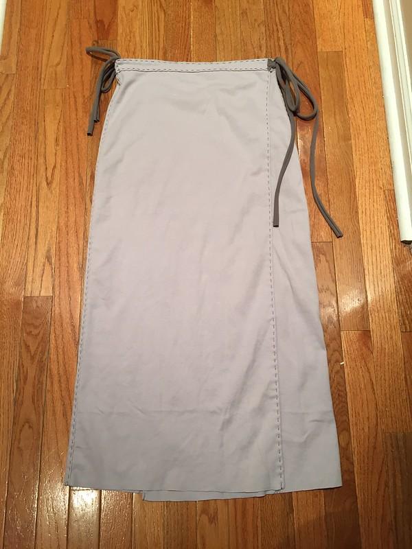 Maxi length wrap skirt