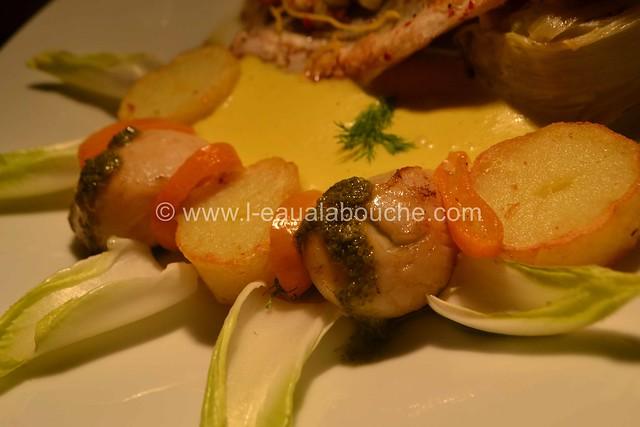 Bar Grillé sur Peau Nid d'Endive & de Fenouil Sauce aux Agrumes © Ana Luthi Tous droits réservés_58