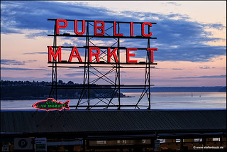 Pike Place Market Seattle Fish Market Sign