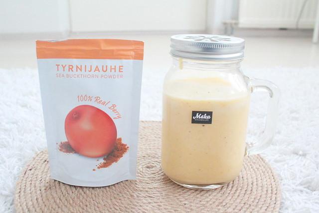 Biokia tyrnijauhe käyttö smoothie