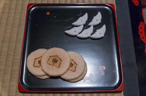 今日のお菓子 No.174 – 初釜の干菓子