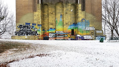 Snow Falling Under a Bridge, Lawrenceville, January 20, 2016