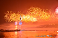 kuwait towers fireworks 2016