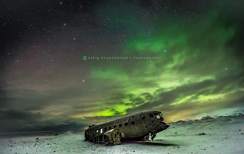 #iceland #north #is #crash #ig_europe #natgeo #natgeotravel #deryk_baumgaertner #photographercrossing #auroraborealis #aurora #aircraft #dc3 #beach #polar