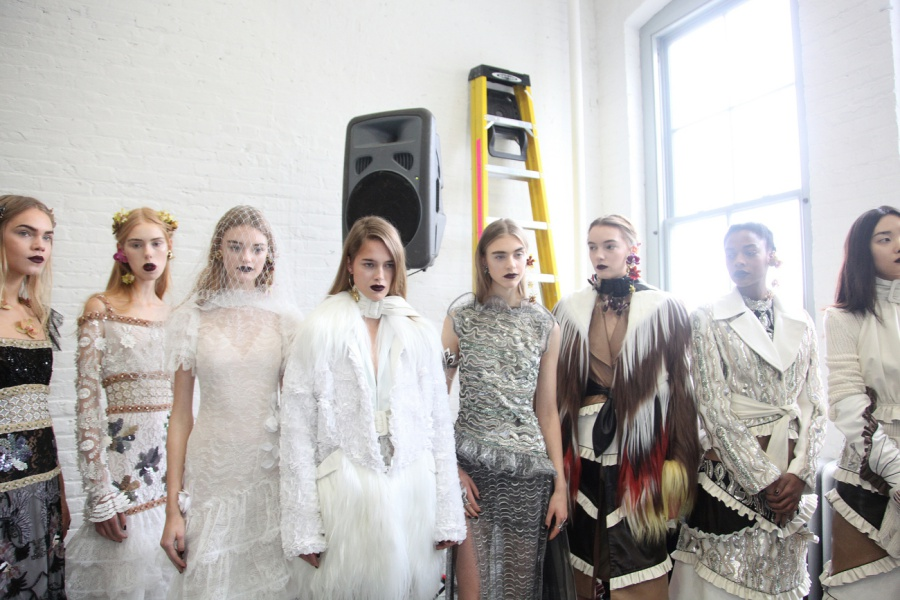 Backstage at Rodarte RTW Fall 2016