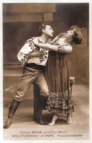 Georges Wague and Colette Willy in La Chair (1907)