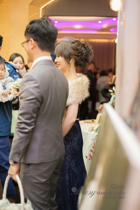 Giny,台北新娘秘書,愛瑞思造型團隊,Ariesy,妝感清透,推薦新秘,新娘造型,台北豪鼎飯店,韓風造型,帝景飯店,迎娶造型,鮮花造型