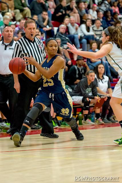Notre Dame of Fairfield vs. Enfield High - CIAC Class M Girls Basketball State Semi-Finals