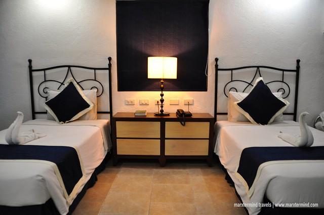 Beds at Santorini Villa Room Estancia Resort Hotel