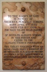 for many years headmaster of St Botolph Aldgate School