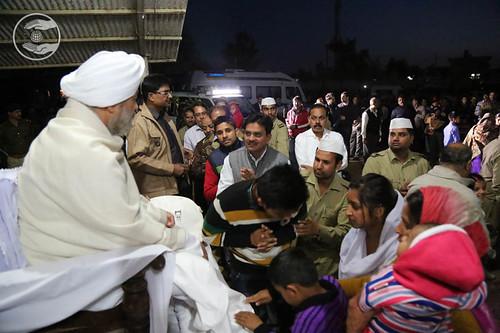 Devotees seeking blessings at Satsang Bhawan Dehradun