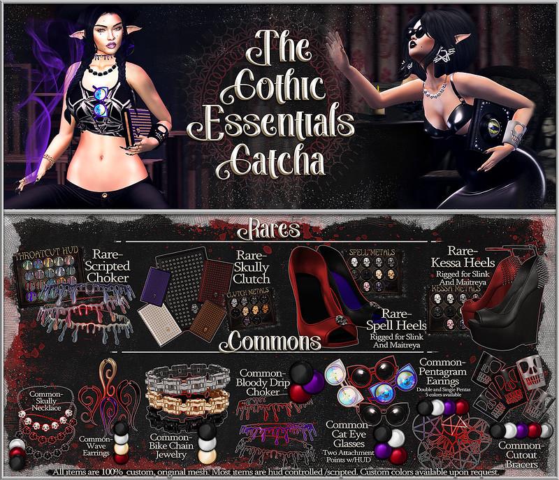 Gatcha Board- Goth Essentials