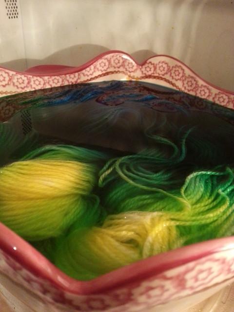 Yarn bath!