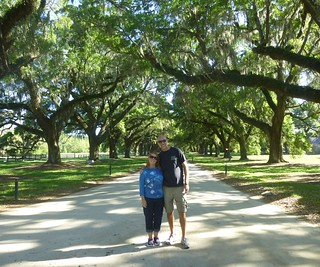 Us in the 'allee of oaks'