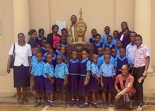 The children of St Louis Nursery and Primary School, Ondo, enjoy a visit to the National Museum