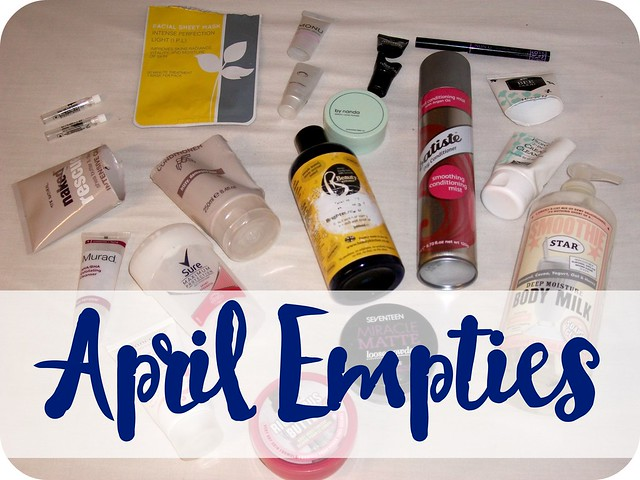 April 2016 Beauty Empties