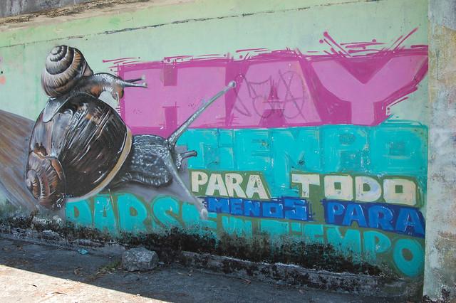 Mural near Llanquihue, Los Lagos, Chile