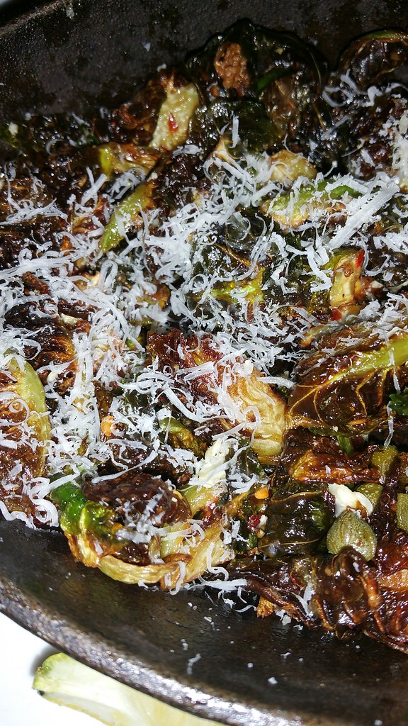 2016-Apr-2 Trattoria Burnaby - Brussel Sprouts (with parmesan)