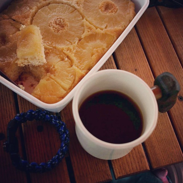 20160423 下午茶時間 老戴的帕卡馬拉 我的鳳梨蛋糕 #歐北露 #老戴咖啡豆 #戴門嘎逼