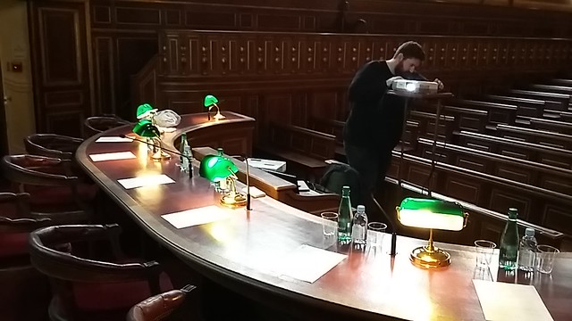 Jury's table for my PhD defense at the Sorbonne's Liard Amphitheatre