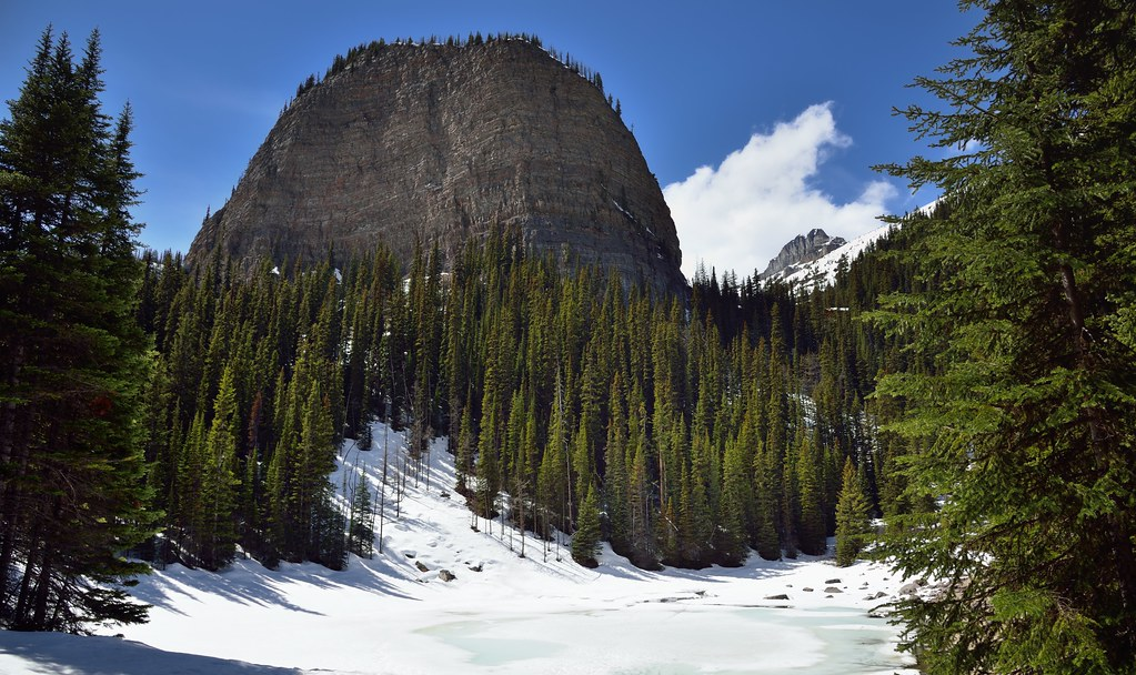 A Snowed Over Mirror Lake and the Big Beehive (Banff National Park)