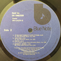 LOU DONALDSON:SWEET LOU(LABEL SIDE-B)