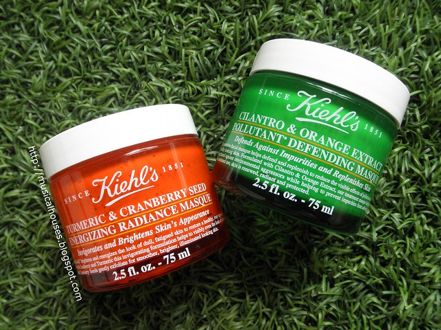 Kiehls Tumeric Cranberry Seed Energizing Radiance Masque Cilantro Orange Extract Pollutant Defending Masque